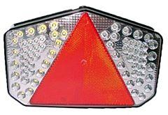 Fanale a LED posteriore destro con 7 funzioni e catadiottro triangolare