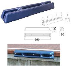 Protezione per pontile 950 mm blu