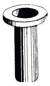 Manicotto plastica remo 53/54 mm