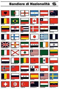 Tabella adesiva bandiere nazionalità