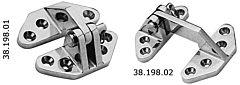 Cerniera inox AISI 316 per boccaporti 67x73 mm