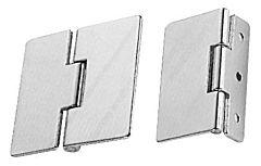 Cerniera in ottone con ali asimmetriche 65x55 mm