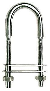 Cavallotto inox 155 mm piastrina 100x27 mm