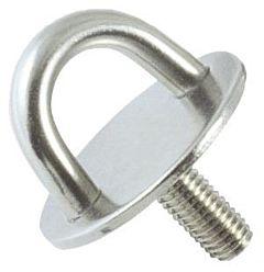Piastrina con prigioniero 8 mm