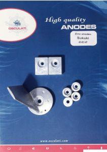 Kit anodi Suzuki 40/50 HP alluminio