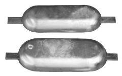 Anodo magnesio da saldare mm 400 x 152 4 kg