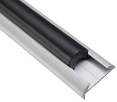 Profilo parabordo alluminio anodizzato 38 x 9 mm (barre da 6 m)