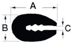 Profilo PVC bianco 3,5 mm  (rotolo 24 m)