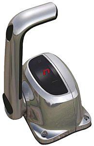 Scatola monoleva  c/trim, cromo B501CHT/L