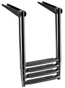 Scaletta Inox Telescopica per plancetta 4 gradini