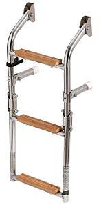 Scaletta inox/legno 3 gradini