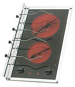 Piano cottura vetroceramica 2 fuochi