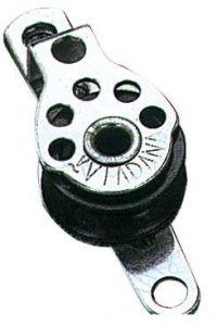 Microbozzello inox 1 puleggia piano 17x5