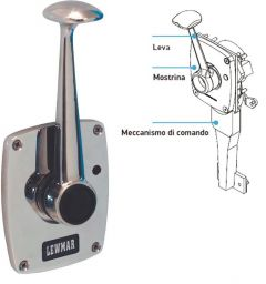 Controllo motore Lewmar leva singola