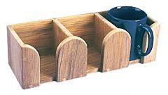 Porta tazze 3 posti teak